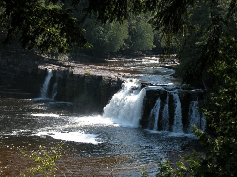 Manabezho Falls in Porcupine Mountains