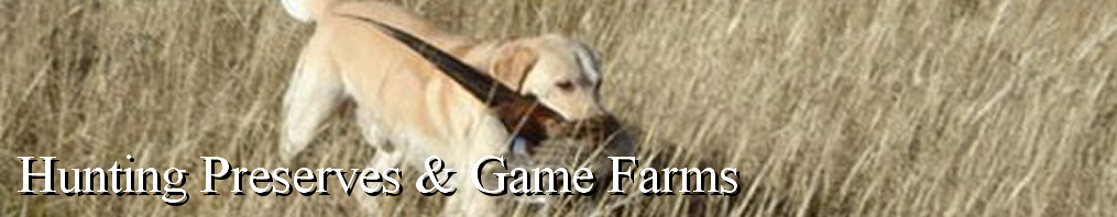 Masthead - Hunting Preserves & Game Farms